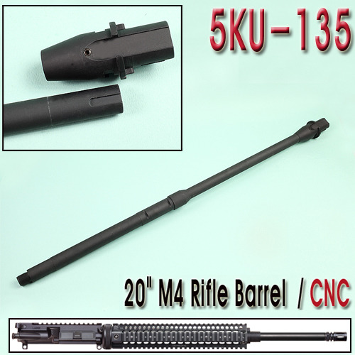 "20"" M4 Rifle Barrel / CNC"