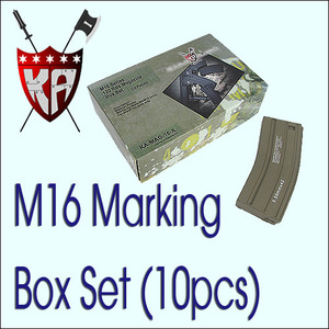 120R M16 Magazine w/ H&K Marking Box Set (10 Pcs) - DE