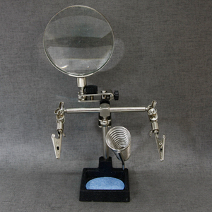 Helping Hand Magnifier With Soldering Stand